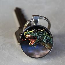 Dragon Fantasy Glass Dome Keychain (GDKC0056)