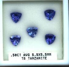 Tanzanite Trillion Cut .50 Carat Natural Deep Color Gemstone.