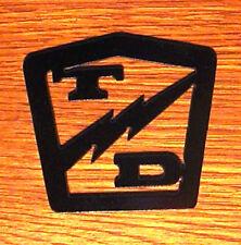 Taylor Dunn Logo Metal Replacement Emblem Script Badge Burden Carrier Golf Cart
