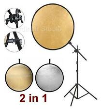 "43"" 110cm Gold Silver Photography Reflector Stand Kit"