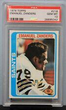 1978 TOPPS # 218 Emanuel Zanders PSA 10 GEM MT PSA # 28895042   SAINTS !!!