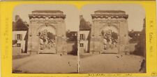 Porte de Châtillon Bar-sur-Seine France Photo Stereo BK Paris Vintage Albumine
