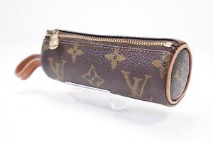 Auth Pre-owned Louis Vuitton Monogram Etui 3 Balles De Golf Case M58249 210097