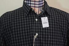 J. CREW Casual Shirt Black White Plaid Gentleman's 2PLY Cotton XL New