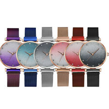 Fashion And Simple Womens Magnetic Buckle Alloy Watchband Female Wrist Watch AU