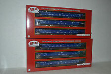 2 Atlas Pacer Stack Train Thrall 53' Articulated Well 3-Car Unit Ho Scale