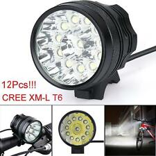 30000LM 12xCREE T6 LED 3 Modes Bicycle Lamp Bike Light Headlight Cycling Torch U