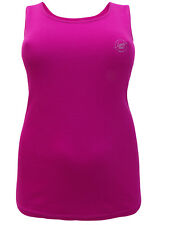 Sheego Fuschia Pink Sleeveless Scoop Neck T Shirt Vest Top 20 22 24 26 28 30 32