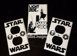 star wars light side dark side Jedi and Sith Vader light switch / outlet cover