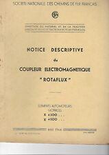 NOTICE SNCF -  COUPLEUR ELECTROMAGNETIQUE ROTAFLUX