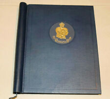 More details for 1937 coronation commonwealth omnibus mint set in album complete 202 stamps