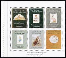GB 1993 Beatrix Potter cinderella 'stamps' x 6 ex. stamp Prestige Book DX15
