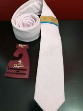 PENGUIN by MUNSINGWEAR Men's Pink Striped Cotton Slim Neck Tie - NWT