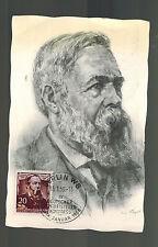 1956 East Germany DDR FDC Postcard Maxicard Cover Friedrich Engels Communist