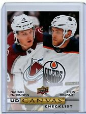 2019-20 Upper Deck Series 2 Nathan MacKinnon/Leon Draisaitl UD Canvas