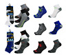 3 Pairs Mens Trainer Socks Cotton Blend Ankle Liner Sports UK Size 6-11