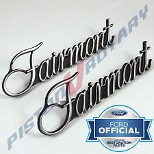 FAIRMONT Guard Badges x2 (PAIR) Chrome, NEW , for XR XT XW XY Ford 351 GT Fender