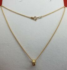 Genuine 18k Solid Saudi Gold Pop Corn Chain with Pendant 20 inches