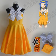 Levy McGarden from Fairy Tail Anime Cosplay Costume cos