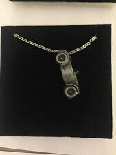 """MG M Type ref139 Car Emblem on Silver Platinum Plated Necklace 18"""""""