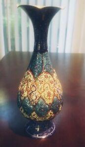 PERSIAN MINAKARI VASE - HAND CRAFTED Copper Enamel Beautiful Design