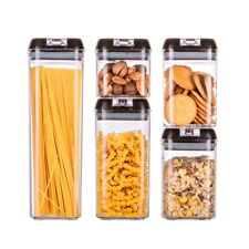 5er-Set Frischhaltedosen mit Deckel Vorrats Dosen Behälter Aufbewahrung BPA frei