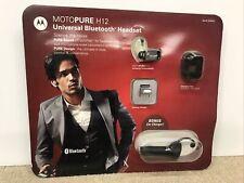 Motorola Motopure H12 Universal Bluetooth Headset crystalTalk & Car Charger Kit