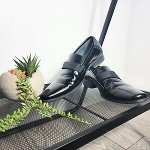 Calvin Klein Men's Barnaby Black Patent Leather Tuxedo Dress Shoes Size 10