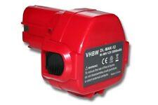 BATTERIE d'outil 3000mAh 12V rouge / gris pour Makita 1233 1234 1235