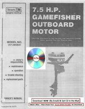 SEARS 7.5 GAMEFISHER OUTBAORD MOTOR 217.585831 OWNERS MAINT INSTRUCTION MANUAL