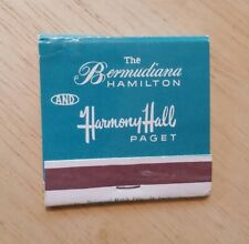 Vintage Matchbook Bermudian Hamilton Harmony Hall Paget Bermuda Hotel Distinct