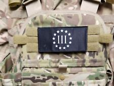 """Iii% Three Percent 3x6"""" Black Chest Rig Morale Patch for Plate Carrier Patriot"""