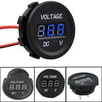 Digital LED Digital Volt Gauge Meter Voltage Panel Voltmeter Display DC 12V-24V