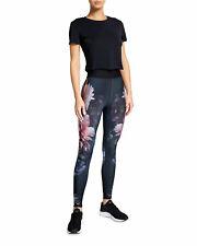 Ultracor FLORES Black USA US Ultra High Hi FLORAL Leggings Legging Pant L NEW