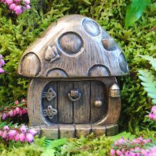 Mushroom Fairy Door for Garden Faeries Elfs Pixies In/outdoor Bronze Finish