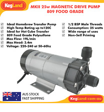 MKII 25w High Temp Magnetic Drive Pump - Brewery Hot Wort Chemical Transfer