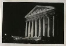 PHOTO ANCIENNE - VINTAGE SNAPSHOT - PARIS PLACE MADELEINE NUIT VERS 1930 - NIGHT