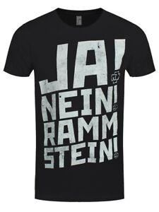 Rammstein T-shirt Ja! Nein! Men's Black