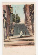 Canada, Quebec, Break Neck Steps L'escalier de la Rue Chaplin Early UB, B249