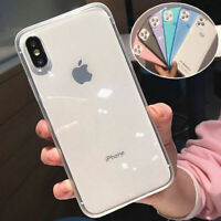 For iPhone 11 Pro XS Max XR X 8 7 Plus Transparent Shockproof Frame Case Cover