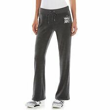 Juicy Couture Embellished Bootcut Velour Pants - Women's size M Short, NEW