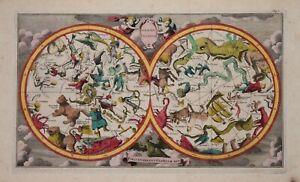 CELESTIAL CHART - GLOBE CELESTE BY PIETER VAN DER AA, CIRCA 1713.