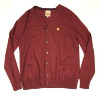 Baracuta Cardigan Merino Wool Red 2XL