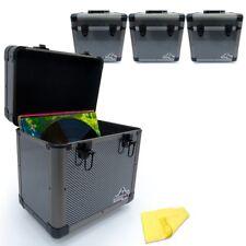 "Gorilla 12"" LP Vinyl Record Carry Case DJ Storage Box Carbon Holds 60 Records x4"