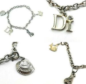 DI Diamond International Charm Bracelet With Three Charms Giraffe Fish And Shell