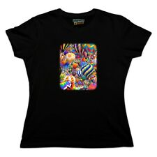 Hot Air Balloon Sky Traffic Jam Women's Novelty T-Shirt