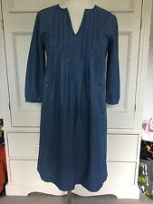 LAURA ASHLEY DENIM TUNIC DRESS, SIZE 8 . NEW WITH TAGS.