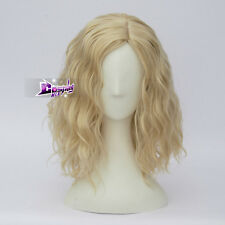 Lolita Heat Resistant Light Blonde Ombre Curly Hair Women Harajuku Cosplay Wig