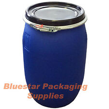 Collection Only 140 Litre Plastic Barrels USED Removable Lids