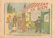 Caricature Ier Novembre fête catholique de la Toussaint Bistro  1934